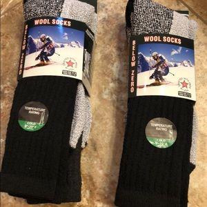 Below Zero Wool Socks Men's size 10-15 socks